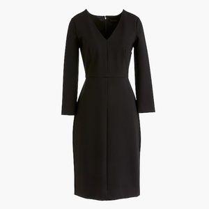 J. Crew Long Sleeve Sheath Black Dress